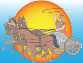 Chariot with horses — Stock Vector