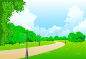 Park in the city — Stock Vector