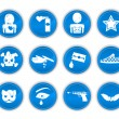 Royalty-Free Stock Vector Image: Emo icons blue