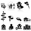 Royalty-Free Stock Vector Image: Real estate icons