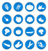 Vegetable icons blue — Stock Vector