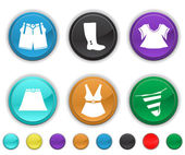 Cloths icons — Stock Vector