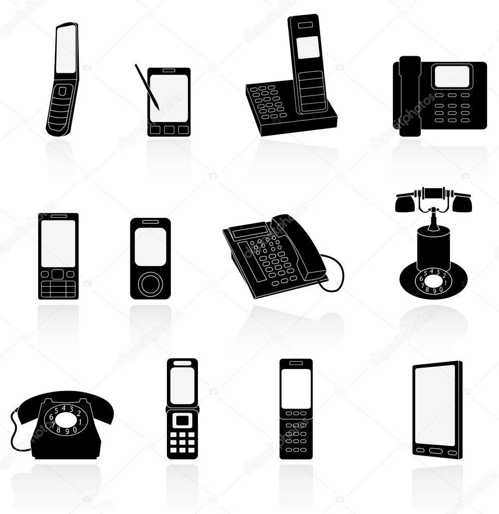 	phone icon  Stock Vector #5402376