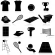 Royalty-Free Stock Vector Image: Set of tennis icons