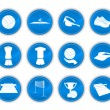 Set of volleyball icons — Stock Vector #5410472