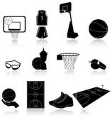 Set of basketball icons — Stock Vector