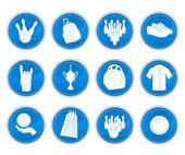 Bowling icons — Stockvektor