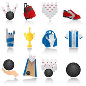 Bowling icons — Stock Vector