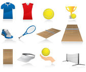 Set of tennis icons — Stock Vector