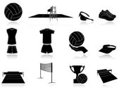 Set of volleyball icons — Stock Vector
