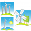 Stock Vector: Green energy