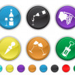 Stock Vector: Wine icons