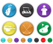 Golf icons,each color is set on a different layer — Vetor de Stock