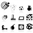 Royalty-Free Stock Vector Image: Games icons