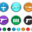 Stock Vector: War icons