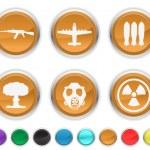 War icons — Stock Vector