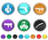 War icons — Stock Vector