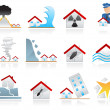 House disaster icons — Stock Vector #5996372