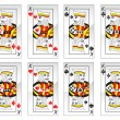 Stock Vector: King cards