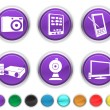 Royalty-Free Stock Vector Image: Electronic equipment,each icon is set on a different layer