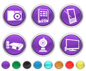 Electronic equipment,each icon is set on a different layer — Stock Vector
