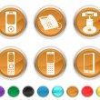 Phone icons,each color icon is set on a different layer — Stock Vector