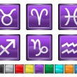 Stock Vector: Astrology Sign,each color icon is set on different layer