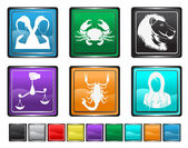 Astrology Sign,each color icon is set on a different layer — Stock Vector