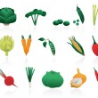 Stock Vector: Vegetable icons