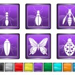 Bugs icons — Stock Vector