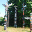 Totems at Stanley Parkt - Stock Photo