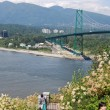 Lions Gate Bridge in Vancouver - Stock Photo
