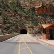 Zion National Park Tunnel — Stock Photo