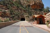 Zion National Park Tunnel — Stock fotografie