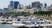 Montreal waterfont in Canada — Stock Photo