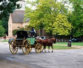 Horse Carriage Ride in Virginia, USA — Stock Photo