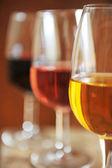 Verres de vin — Stock Photo