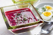 Borscht with beet and — Stock Photo