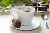 Cup of americano coffee, — Stock Photo
