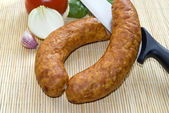 Fresh sausage — Stock Photo