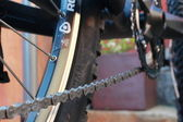 A bicycle chain — Stock Photo