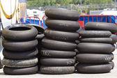 Neumáticos de la motocicleta — Foto de Stock