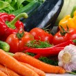 Composition with raw vegetables — Stock Photo