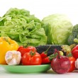 Composition with raw vegetables - 
