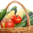 Royalty-Free Stock Photo: Vegetables and wicker basket