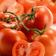 Composition with fresh tomatoes — Stock Photo