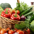 Stock Photo: Vegetables in wicker basket