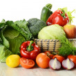 Vegetables in wicker basket — Stock Photo #5569993