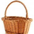 Empty wicker basket isolated on white — Stock Photo #5570534
