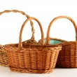Empty wicker basket isolated on white — Stock Photo #5570539